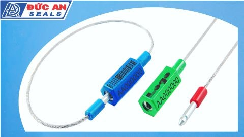 khóa kẹp chì seal niêm phong dây cáp bấm cable seal da08 in logo bar code
