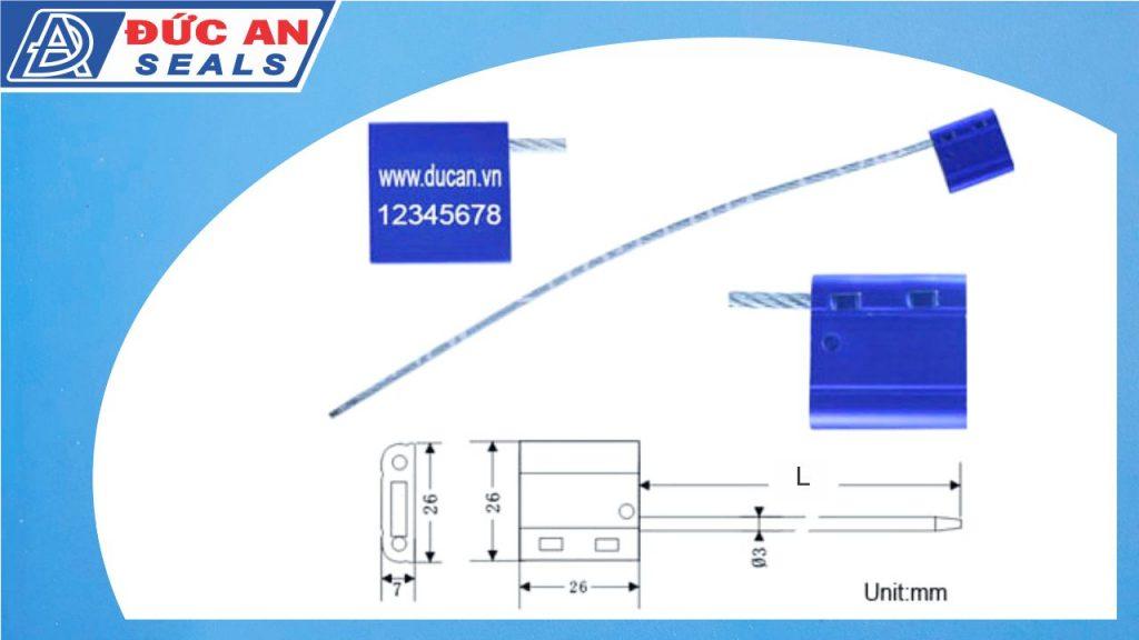 khóa kẹp chì seal niêm phong dây cáp hộp nhôm 3mm (3)
