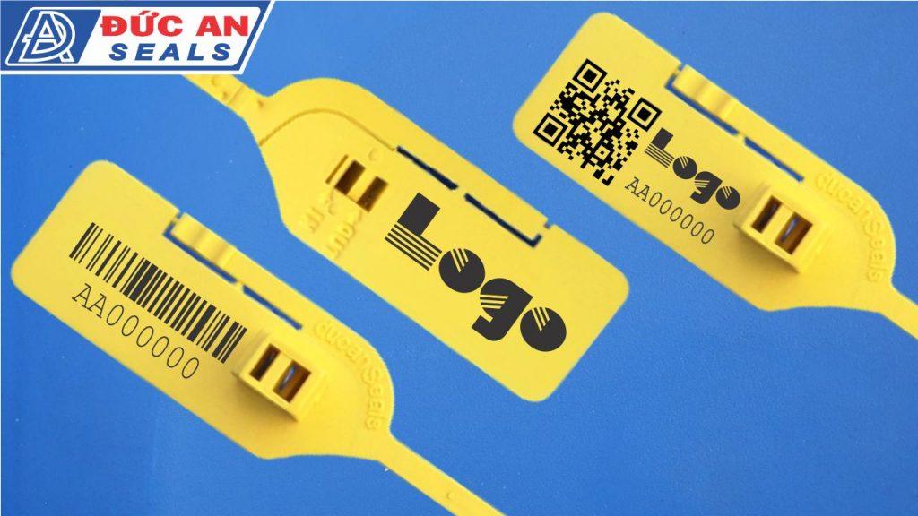 seal niêm phong dây rút dây thít nhựa răng cưa da24 in logo qr bar code truy xuất nguồn gốc